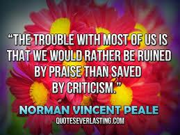 CriticismPraiseNormanVincentPeale